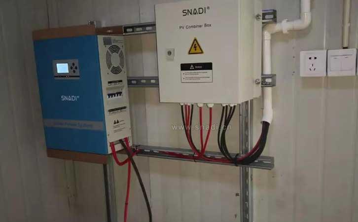 太阳能发电系统,采用snadi逆控一体机